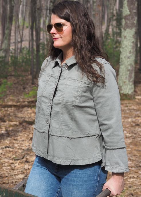 Tribal 3/4 Bell Sleeve Jacket