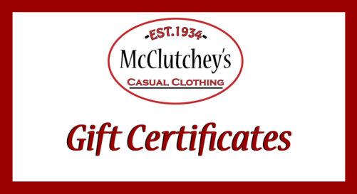 McClutchey's Gift Certificates