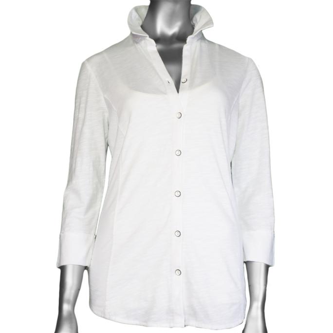 Habitat Cotton Pebble Shaped Shirt White
