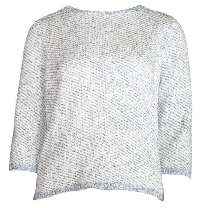 Habitat Basket Weave Droptail SweaterSky