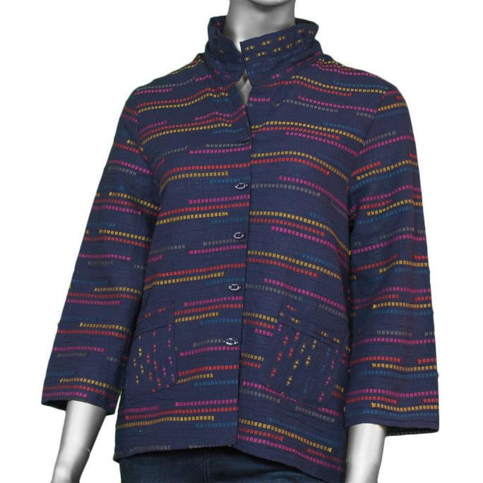 Habitat Women's Peruvian Ruch Collar Jacket Indigo