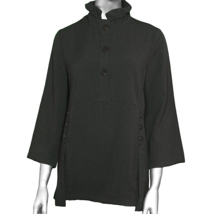 Habitat Ruch-Collar Pullover Black