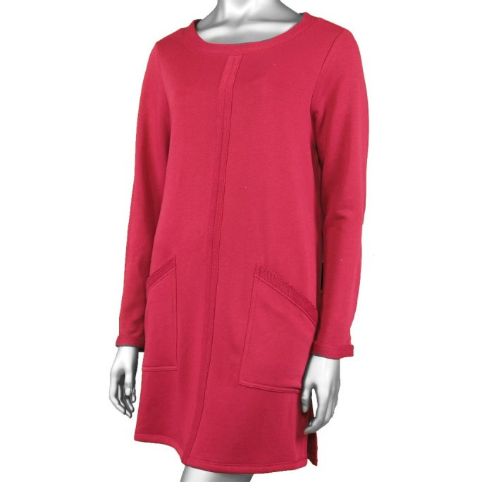Habitat Honeycomb Trim Pocket Dress Barn Red