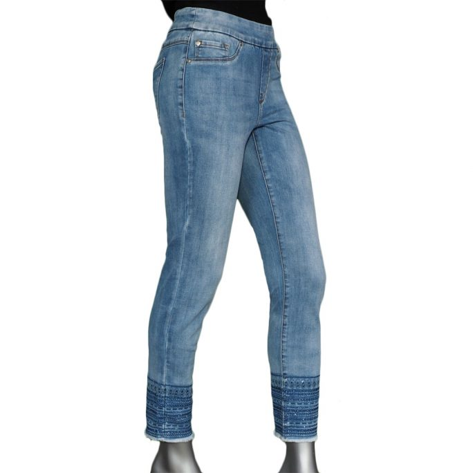 Tribal Pull-on Jegging Blueglow