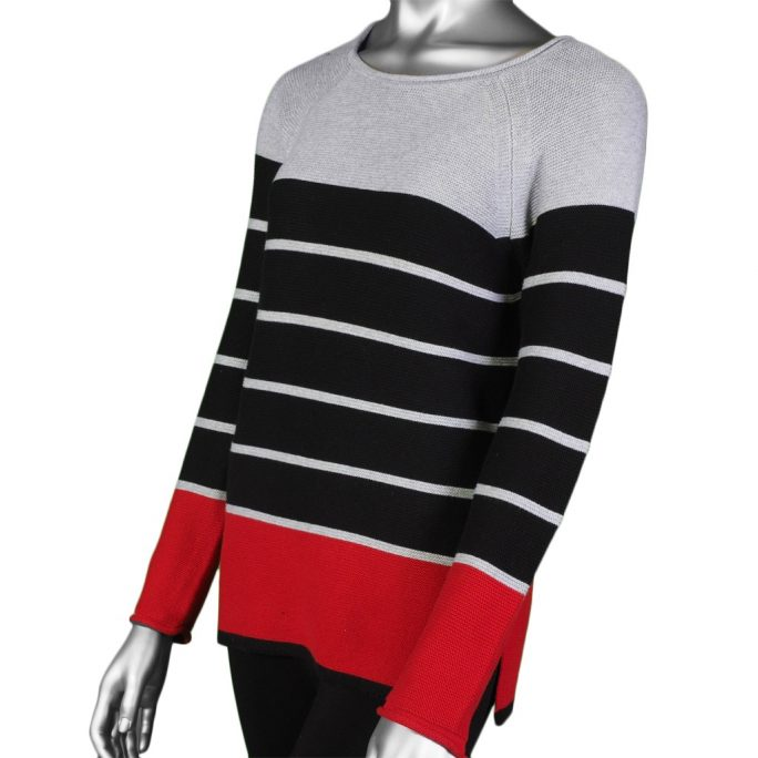 Tribal Textured Striped Sweater