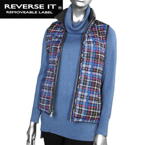 Tribal Reverse it ™ Puffer Vest - Black