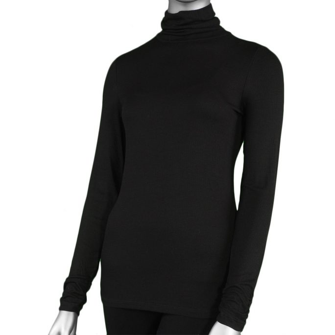Tribal Turtle Neck Black