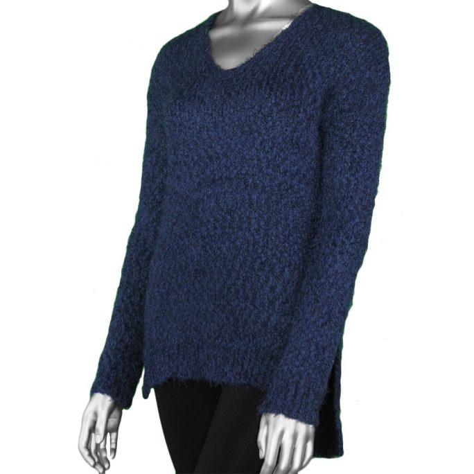Tribal V-Neck Sweater Dark Marine
