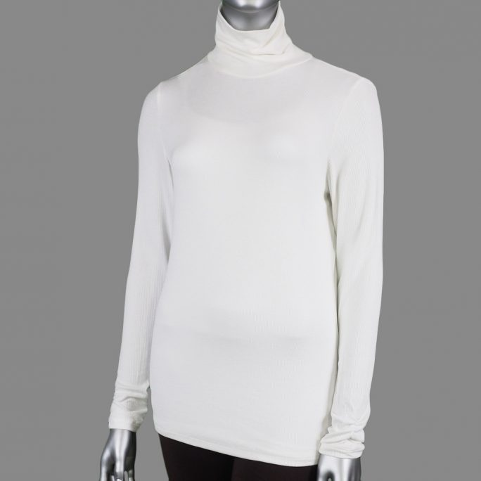 Tribal Turtle Neck Top Cream