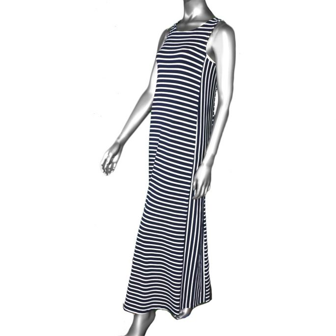 McClutchey's Navy Stripe Maxi Dress