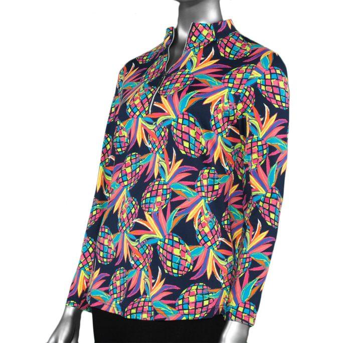LuLu-B High Neck Zipper Pullover- MPI