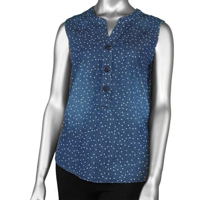 McClutchey's Sleeveless Blouse Star Print