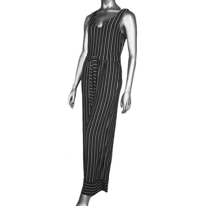 Tribal Stripe Jumpsuit- Black