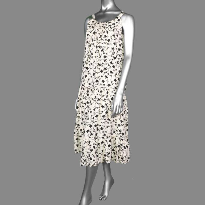 Tribal Babydoll Dress- Stone