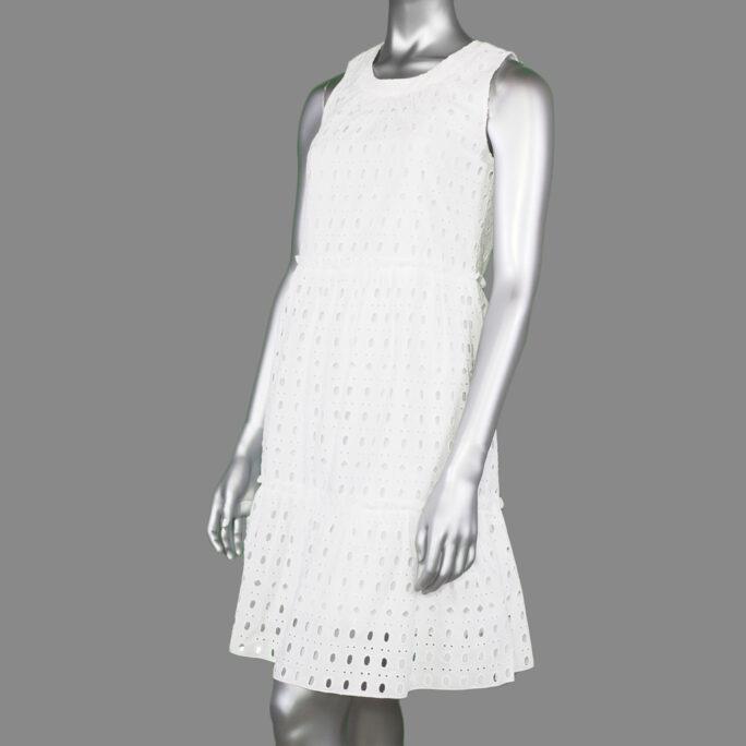 Tribal Layered Dress- White