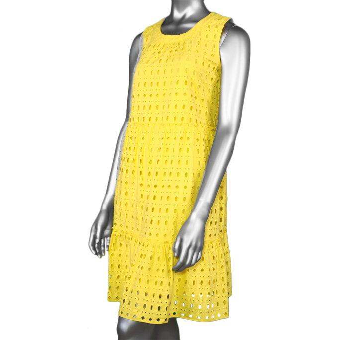 Tribal Layered Dress- Lemon