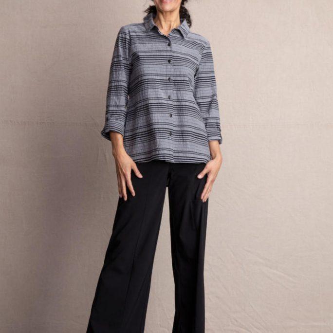 Habitat City Stripe Illusion Shirt- Black. Habitat Style:65126 .