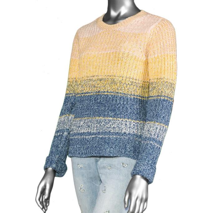 Tribal Crew Neck Sweater- Arctic Blue. Tribal Style:4704O-4251-1714