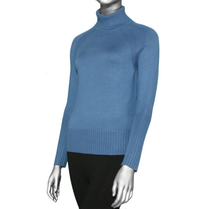 Tribal Turtle Neck Sweater- Arctic Blue. Tribal Style:4708O-835-1714