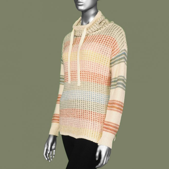Tribal Drop Shoulder Sweater- Blush. Tribal Style:4648O-3340-0770