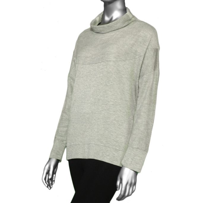 Tribal Top with Side Slits- Grey Mix. Tribal Style: 4760O-3353-0266