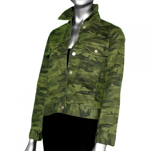 Liverpool Jacket with Patch Pocket- Dark Moss Camo. Liverpool Style:LM1669NW4