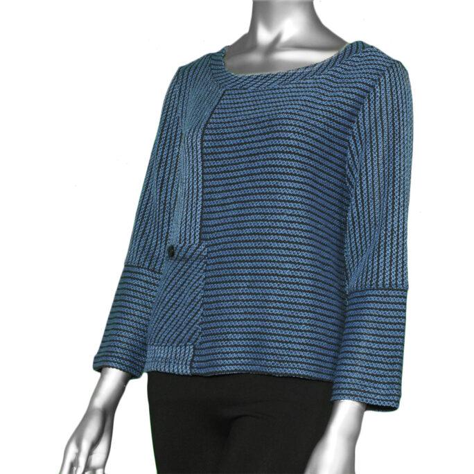 Habitat Tweedy Stripe Pocket Pullover- Denim. Habitat Style:51729
