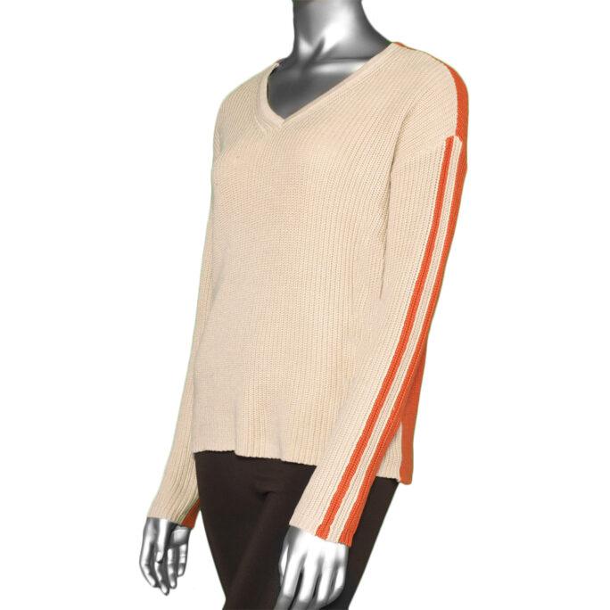 Tribal V-Neck Sweater- Sandstone. Tribal Style:4667O-576-0874