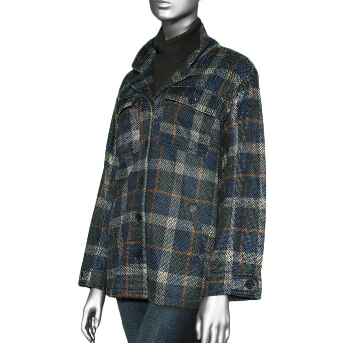 Liverpool Button Front Jacket- C/N/C Tartan Plaid. Liverpool Style:LM1677CA40