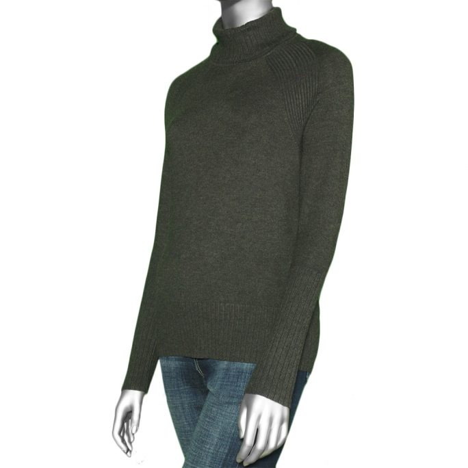 Tribal Turtle Neck Sweater- Heather Charcoal. Tribal Style:4708O-835-0367